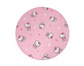 Kinderteppich Hello Kitty (rund) - Pink - Durchmesser: 80cm, Testil