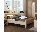 Doppelbett in Eiche Sägerau modern