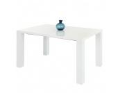 Esstisch Jolina (mit Ausziehfunktion) - Hochglanz Weiß - 140-180 x 90 cm, Home Design