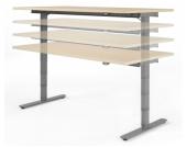 Geramöbel Schreibtisch VALENCIA elektr. höhenverstellbar 120 x 80 Ahorn/Silber