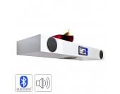 Wandregal Sound-Dock - 2 Lautsprecher/1 Subwoofer - Hochglanz Weiß lackiert, Fredriks