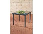 Polyrattan Gartentisch BARI, aus bis zu 3 Rattan-Farben + 3 Tischgrößen wählen