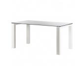 Glastisch Palma - Weiß lackiertes Glas/Lack Weiß - 200 x 100 cm, Niehoff