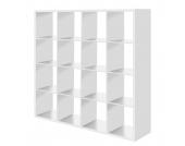 Raumteiler Romeo - Weiß - 16 Fächer, mooved
