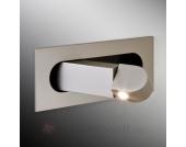 LED-Wandleuchte Digit als Leselicht, Nickel