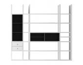 XL Regalwand Emporior III.A - Ohne Beleuchtung - Weiß / Schwarz, loftscape