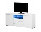 EEK A+, Sideboard Roomconcept (inkl. LED-Beleuchtung) - Hochglanz Weiß, roomscape