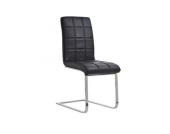 gut gepolsterter Freischwinger-Stuhl EMILY, Gestell in Chromoptik, Sitzhöhe 50 cm (aus bis zu 7 Farben wählen)
