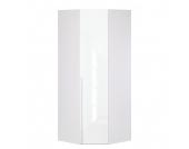 Eckschrank Melva - Polarweiß/LackWeiß - BxH: 92,3 x 236 cm, Express Möbel