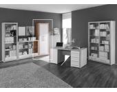 Jumbo-Möbel Aktenschrank CUBE in Sonoma & weiß Glanz Design, Büro