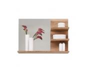 Badezimmerspiegel in Nussbaumfarben Ablagen