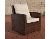 Polyrattan Sessel FISOLO mit GRATIS Sitzkissen, aus bis zu 4 Rattan-Farben wählen, ALU Gestell, 100% rostfrei