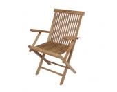 Armlehnstuhl aus Teak Massivholz klappbar
