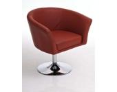 eleganter Lounge-Sessel / Clubsessel BOSTON, drehbar, aus bis zu 8 Farben wählen
