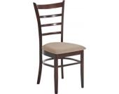 Esszimmerstuhl LILLY, Holz-Stuhl mit pflegeleichtem Microfaserbezug, Gastronomie geeignet