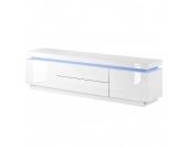 EEK A+, Lowboard Emblaze (inkl. Beleuchtung) - Hochglanz Weiß, loftscape