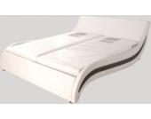 Cats Collection Design Lederbett 160 x 200cm weiß-schwarz