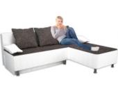 VCM Ecksofa ´´Stylosa Weiß´´ Kunstleder | Couch mit Schlaffunktion
