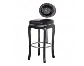 Barstuhl Rockstar - in schwarz, Kare Design