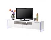 EEK A+, TV- Lowboard Brunetti II (inkl. Beleuchtung) - Hochglanz Weiß, loftscape