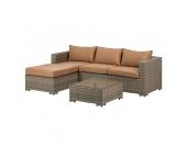 Loungesofa Paradise Lounge I (2-teilig) - Braun / Cognac, Kings Garden