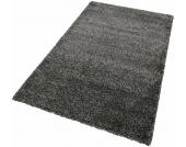Merinos Hochflor-Teppich »INDRE«, schwarz, 200x290 cm
