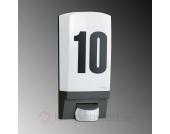Mit Sensor - Hausnummernleuchte STEINE L 1 schwarz