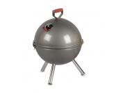 Kugelgrill klein - Stahl, verchromter Grillrost Silber - 28 cm 40 cm, Gusta