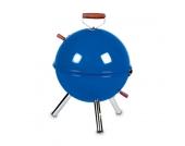 Kugelgrill klein - Stahl, verchromter Grillrost Blau - 28 cm 40 cm, Gusta