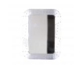 Badspiegel Clairy - Alu beschlagen - Mangobaum Massiv/Aluminium, Möbel Exclusive