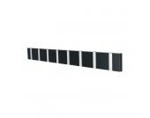 Garderobenleiste Knax 8 - MDF Faserplatte - Schwarz, Loca
