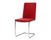 Freischwinger Stuhl in Rot modern (4er Set)