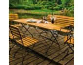 Gartentisch aus Massivholz klappbar