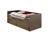 Funktionsbett Ronny - 90 x 200cm - Taupe, Relita