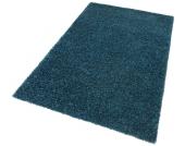 my home Hochflor-Teppich »Finn«, blau, 200x290 cm