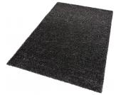 my home Hochflor-Teppich »Finn«, schwarz, 70x140 cm