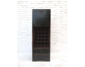 China schlanke Kommode Barschrank Anrichte schwarz glaenzend lackiert