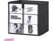 Jumbo Möbel Alfa 1 Fotobox anthrazit mit 6 Fächern für Fotos 32 x 32 x 32
