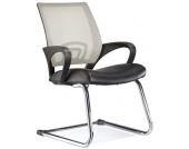 Konferenzstuhl / Freischwinger / Stuhl VISTO NET V Netzstoff schwarz / grau Chrom hjh OFFICE