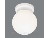 Weiße Opalglas-Deckenleuchte ENZO