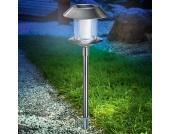 Swing LED-Solarleuchte Edelstahl