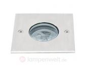 Quadratischer LED-Bodeneinbaustrahler 1W