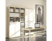 Büroschrank in Eiche Weiß 190 cm
