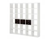 Regalwand Empire - Weiß - Wenge Dekor, loftscape
