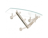 Garderoben Hakenleiste aus Glas und Metall