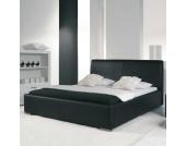 Leder-Bett in Schwarz