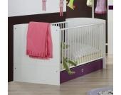 Babybett in Weiß-Lila