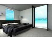 Ocean Duo Wasserbett, 180 x 200 cm, schwarz, F5
