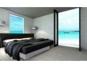 Ocean Mono Wasserbett, 200 x 200 cm, weiß, F5