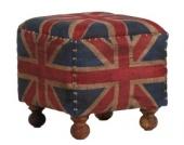IOVIVO Sitzhocker Union Jack used look